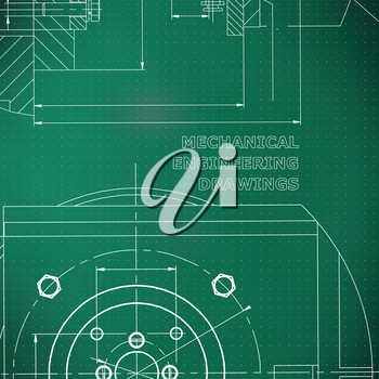Mechanics. Technical design. Engineering style. Mechanical. Corporate Identity. Light green background. Points