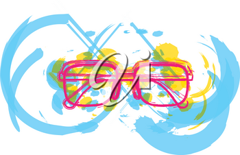Colorful abstract Eyeglasses vector illustration