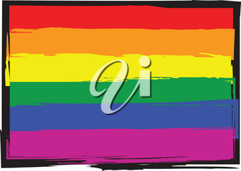 vector Illustration of a gay pride flag
