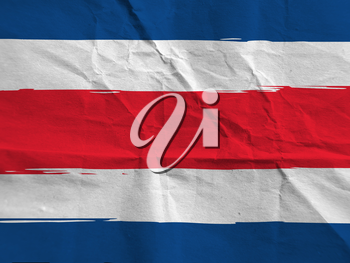 abstract COSTA RICA flag or banner