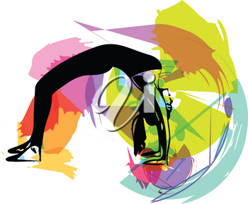fit young woman in sportswear vector illustration