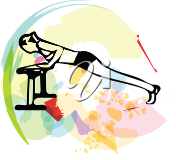 Abstract illustration of Beautiful sporty fit woman
