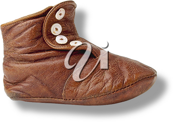 Royalty Free Photo of a Vintage Leather Shoe