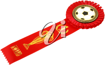 Royalty Free Photo of a First Place Soccer Ribbon