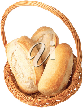 Royalty Free Photo of a Basket of Bread