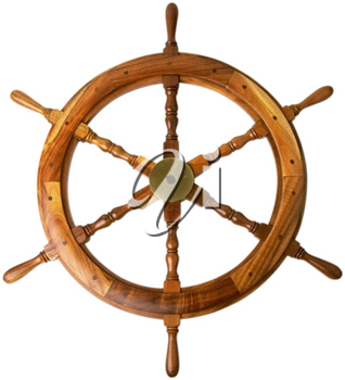 Royalty Free Photo of a Boat Steering Wheel