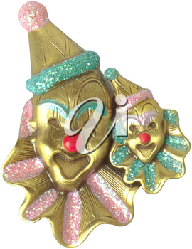 Royalty Free Photo of a Pair of Clowns on a Brooch