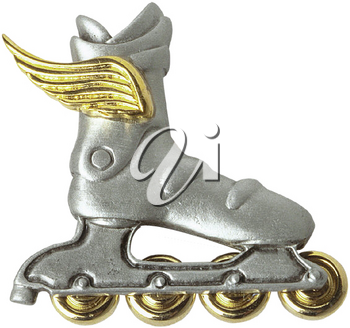Royalty Free Photo of an Inline Skate with Wings Brooch