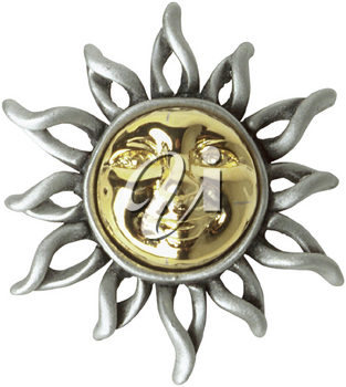 Royalty Free Photo of a Sun Brooch