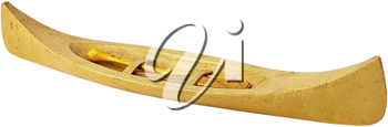 Royalty Free Photo of a Wooden Canoe