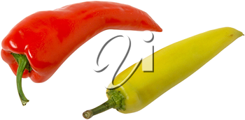 Royalty Free Photo of a Red and Yellow Pepper