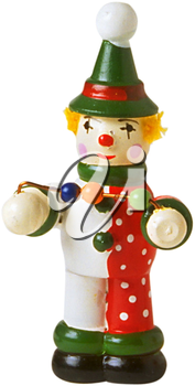 Royalty Free Photo of a Wooden Clown