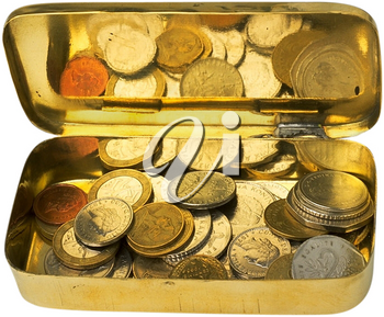 Royalty Free Photo of a Tin of Coins