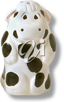 Royalty Free Photo of a Ceramic Cow Pepper Shaker