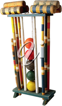 Royalty Free Photo of a Croquet Set