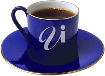 Royalty Free Photo of a Cup and Saucer of Coffee