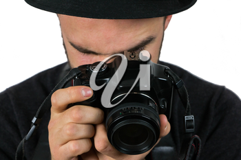 Man in Black Hat With Camera