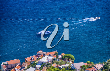 Scenic view of Amalfi coast from a height