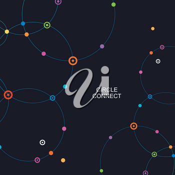 Network template. Digital background with connections circle.