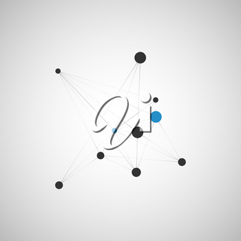 Abstract vector technology, network and connect background.