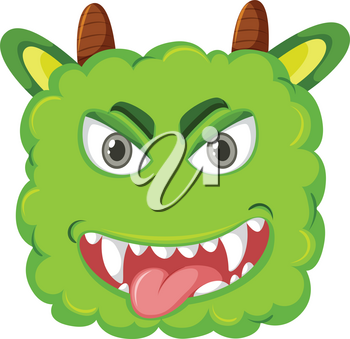 A playful monster head illustration