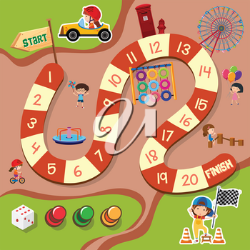 A board game template illustration