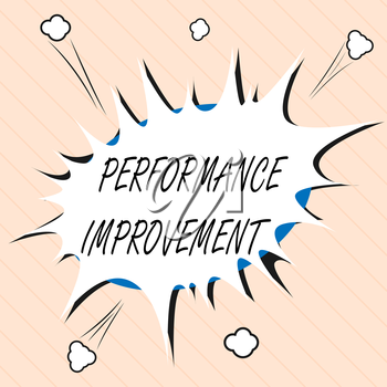 Word writing text Performance Improvement. Business concept for Measure and Modify the Output to increase efficiency.