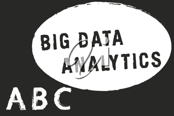 Text sign showing Big Data Analytics. Conceptual photo The process of examining large and varied data sets.