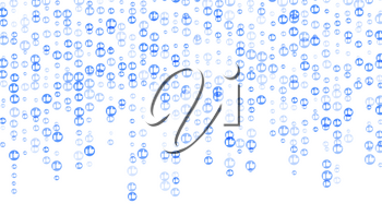 Social Network Like Icons Background Vector. Abstract Design Element. Social Thumb Up, Like Heart Floating. Illustration
