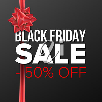 Black Friday Sale Banner Vector. Marketing Advertising Design Illustration. Template Design For Black Friday Poster, Brochure, Card, Shop Discount Advertising.
