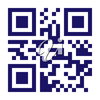 Classic QR Code Vector. Black And White. Scanning Technology Isolated Illustration