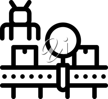 manufacturing defect search icon vector. manufacturing defect search sign. isolated contour symbol illustration