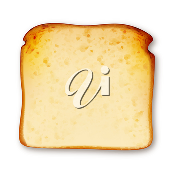 Toast Fried Bread In Toaster Electric Tool Vector. Crunchy Sliced Toast Delicious Fresh Fry Food, Morning Breakfast Dish. Eatery Dieting Nutrition Dessert Template Realistic 3d Illustration