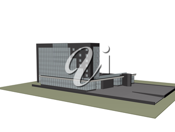 Architectural models and composition of the building