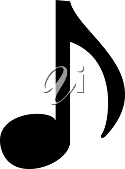 Music note icon  icon black color vector illustration isolated
