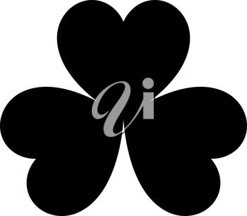 The clover black color it is black icon .