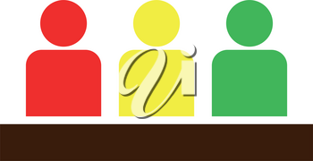 Board meeting - business concept icon . Different color . Simple style .