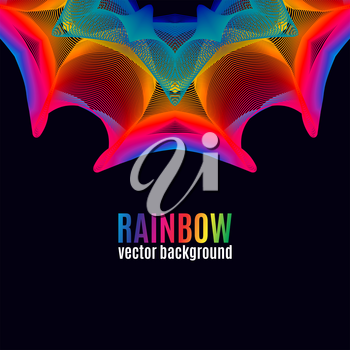 Rainbow Lines vector background. Abstract colorful illustration for your business