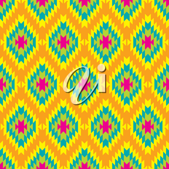 Mexican Folkloric  seamless pattern. Set bright seamless patterns for fabrics, prints, scrapbooking, wallpapers.