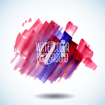 Watercolor red  abstract background with space for text - vector