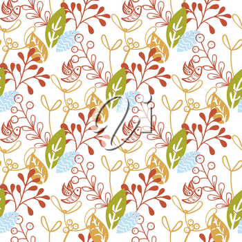 Christmas floral seamless pattern. For invitations,  announcements, scrapbooking,wrapping