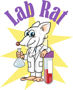 rat lab character cartoon. vetcor illustration
