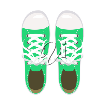 Sports shoes, gym shoes, keds green colors