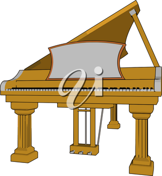 Piano is played by using a black and white key board It is useful for musician to give melody music vector color drawing or illustration