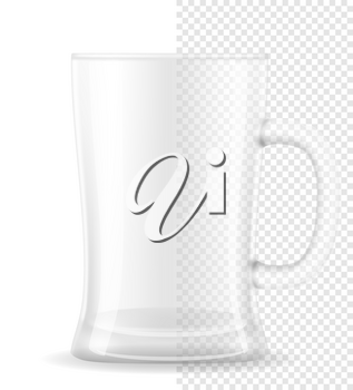 mug for beer transparent stock vector illustration isolated on white background