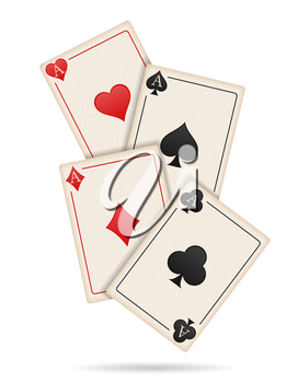 casino cards ace stock vector illustration isolated on white background