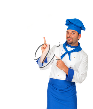 Young chef with blue hat