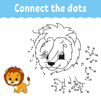 Dot to dot. Draw a line. Handwriting practice. Learning numbers for kids. Education developing worksheet. Activity coloring page. Game for toddler. Isolated vector illustration. Cartoon style.