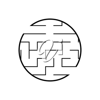 Abstact labyrinth. Educational game for kids. Puzzle for children. Maze conundrum. Find the right path. Vector illustration.